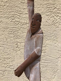 """William Dickey King Original One of a Kind Wood Sculpture """"The Good Old Days"""""""