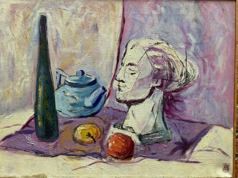 William Krasnoborski Still Life No. 2 Purple Painting In Good Condition For Sale In Garnerville, NY