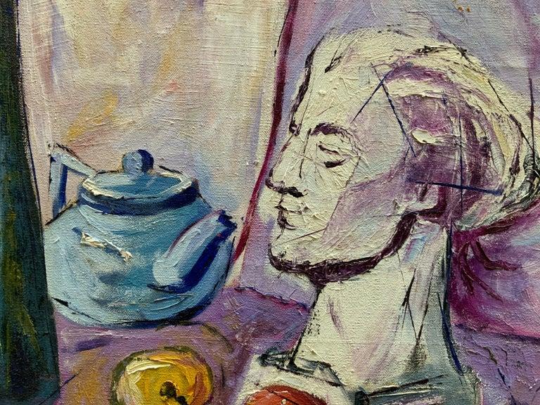 Mid-20th Century William Krasnoborski Still Life No. 2 Purple Painting For Sale
