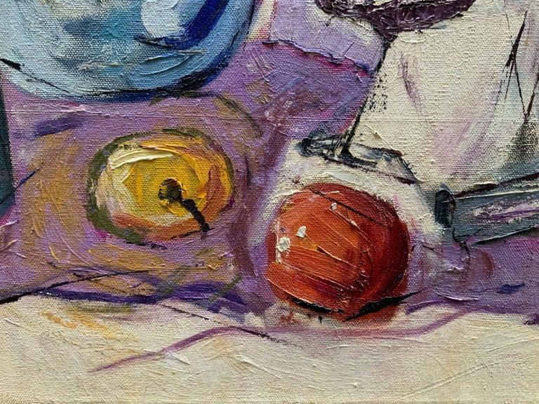 Canvas William Krasnoborski Still Life No. 2 Purple Painting For Sale
