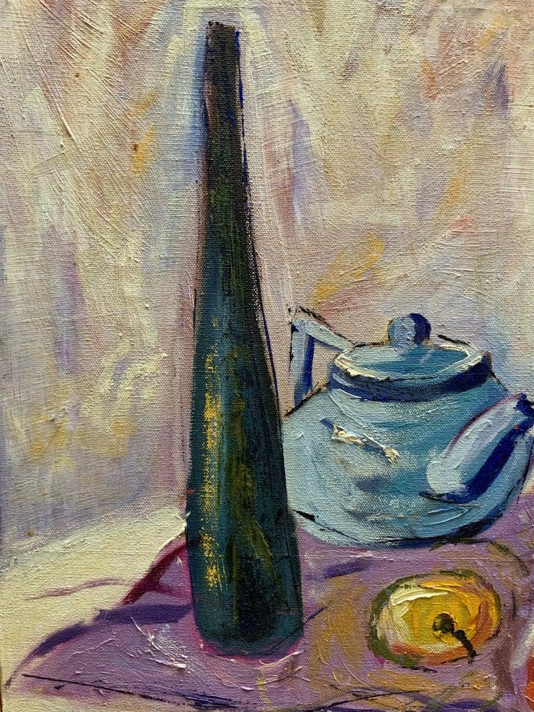 William Krasnoborski Still Life No. 2 Purple Painting For Sale 1