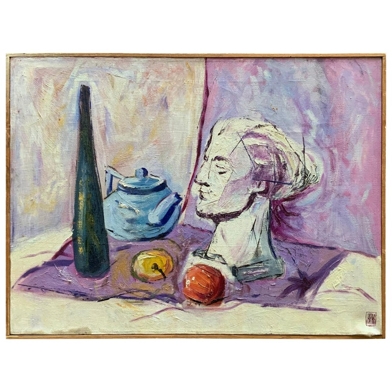William Krasnoborski Still Life No. 2 Purple Painting For Sale