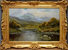 Loch Katrine - 19th Century Landscape Oil Painting of Scottish Highlands