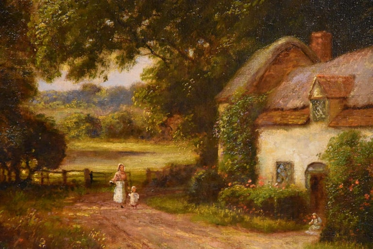 """Oil Painting by William Langley """"A Tranquil Day in the Country"""" 2"""