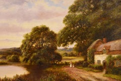 "Oil Painting by William Langley ""A Tranquil Day in the Country"""