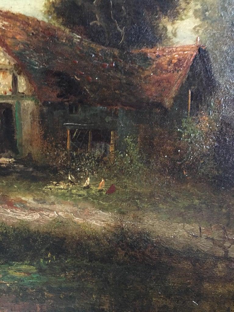 Sunrise River Cottage, Traditional River Landscape Scene, Oil Painting 3