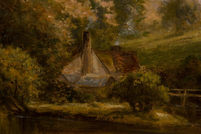 William Langley (c.1880-1922) - Signed Early 20th Century Oil, River Landscape For Sale 1
