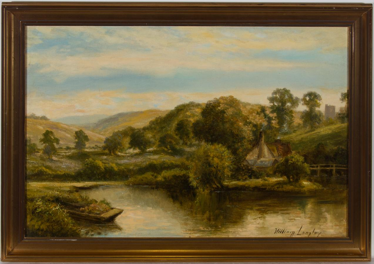 William Langley (c.1880-1922) - Signed Early 20th Century Oil, River Landscape