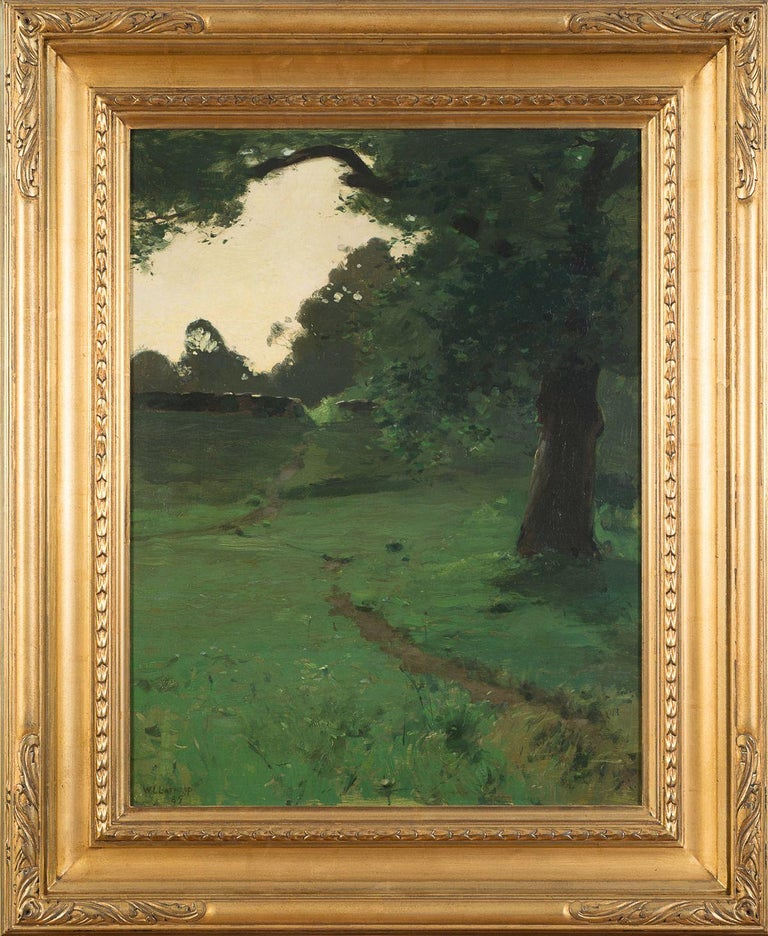 View of a Path Through a Glade at Dusk by William Langson Lathrop (1859–1938) For Sale 1