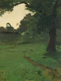 View of a Path Through a Glade at Dusk by William Langson Lathrop (1859–1938)