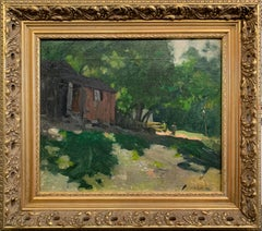 Fisherman's Home, New Hope School, Impressionist Landscape, Oil on Canvas