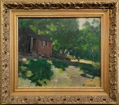 William Lathrop, Fisherman's Home, Oil on Canvas, Signed
