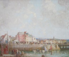 Post-Impressionist landscape of Chester Harbour 'The Harbour' by W. L. Hankey