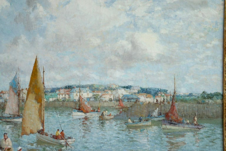 The Ferry - Brittany - Post Impressionist Oil, Riverscape by William Lee Hankey 2