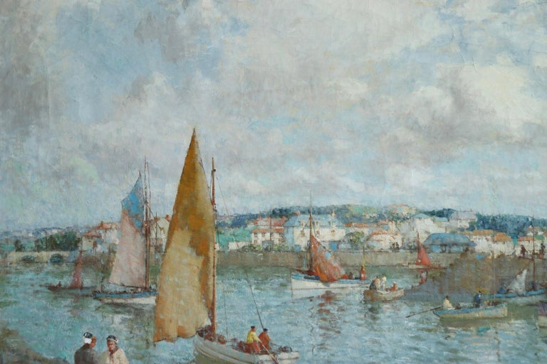 The Ferry - Brittany - Post Impressionist Oil, Riverscape by William Lee Hankey 3