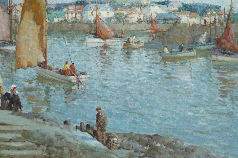 The Ferry - Brittany - Post Impressionist Oil, Riverscape by William Lee Hankey 5