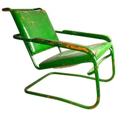 William Lescaze Moderne Tubular Armchair