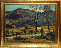 Antique Impressionist New England Landscape Oil Painting, William Lester Stevens