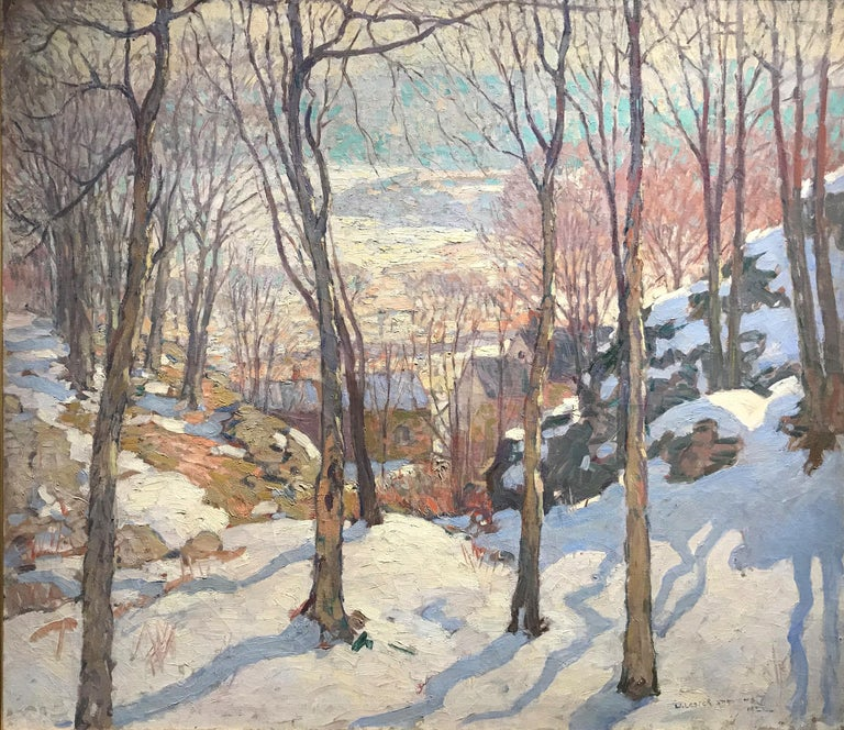 Rockport In Winter - Painting by William Lester Stevens