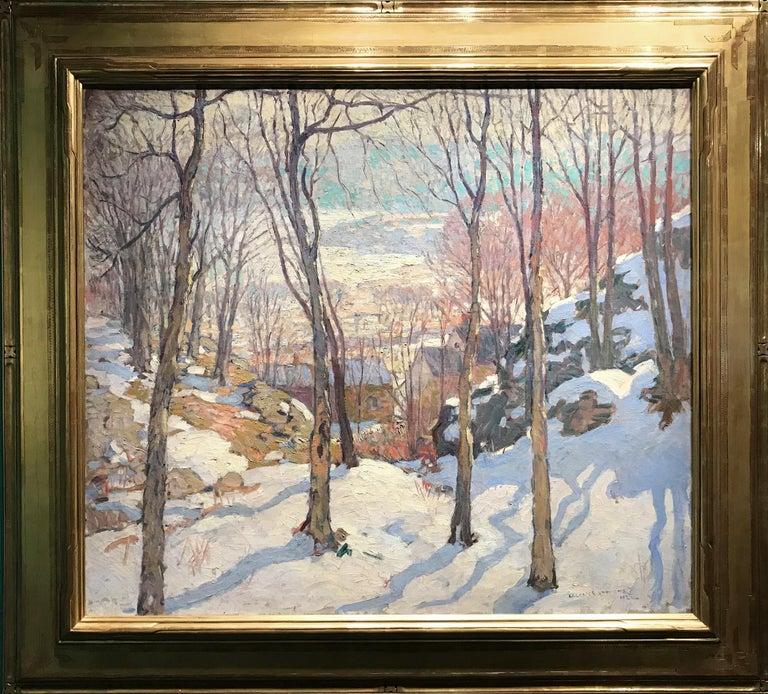 William Lester Stevens Landscape Painting - Rockport In Winter