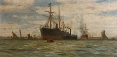 Steam ships on the Thames