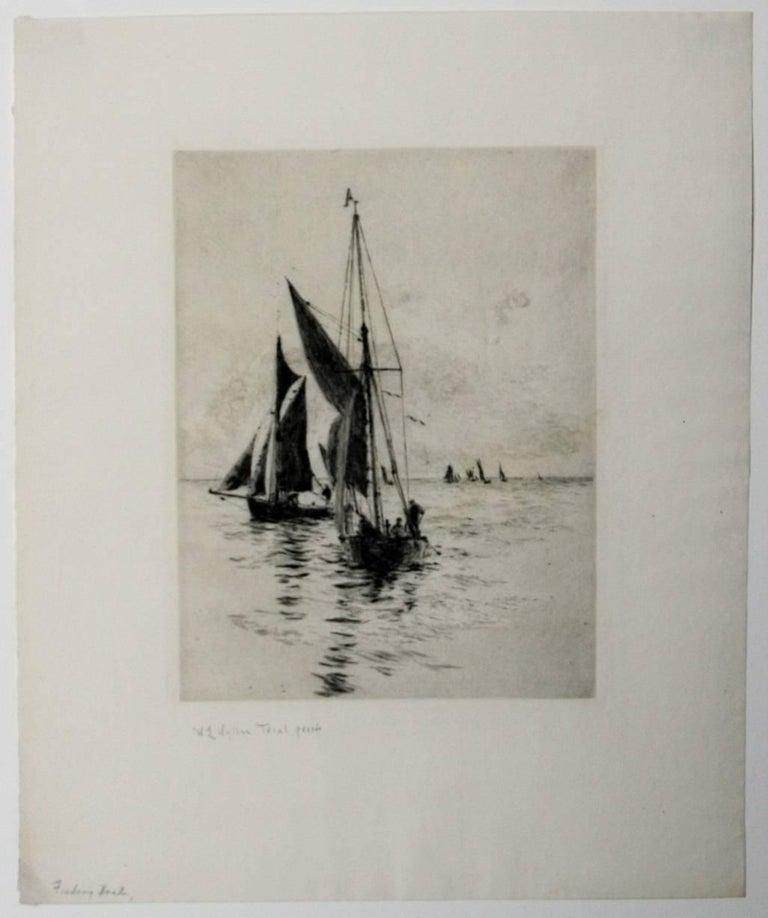 Fishing Boats  - Print by William Lionel Wyllie, R.A., R.I., R.E.
