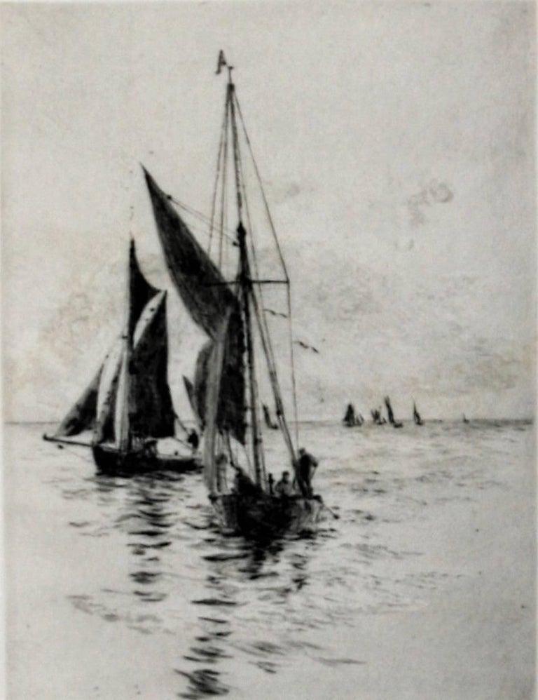 William Lionel Wyllie, R.A., R.I., R.E. Landscape Print - Fishing Boats