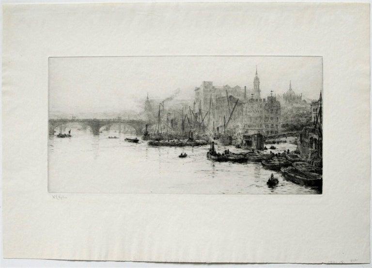 The Pool  of London. - Print by William Lionel Wyllie, R.A., R.I., R.E.