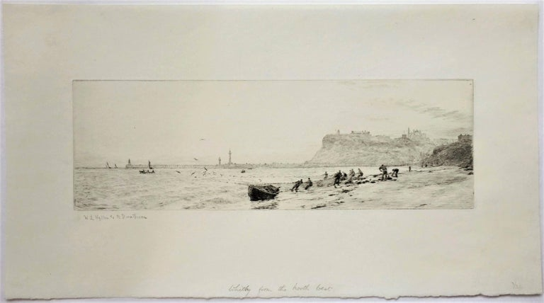 Whitby from the North-West. - Print by William Lionel Wyllie, R.A., R.I., R.E.