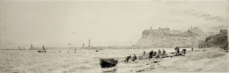 William Lionel Wyllie, R.A., R.I., R.E. Landscape Print - Whitby from the North-West.