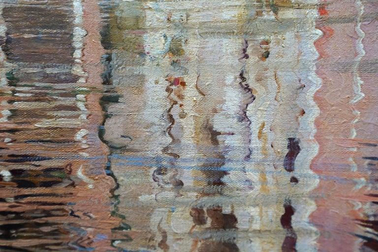 Compo de L'Abazia Venice - British Victorian art Venetian square oil painting  For Sale 2