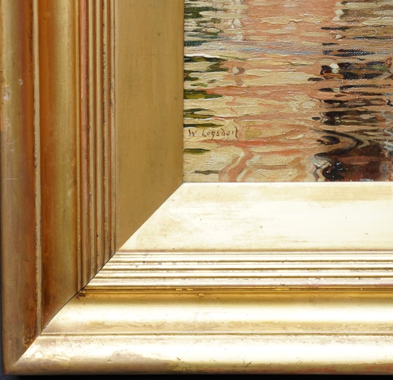 Compo de L'Abazia Venice - British Victorian art Venetian square oil painting  For Sale 4