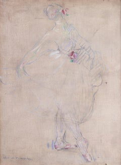 Danseuse, Paris 1911, a beautiful impressionist painting of a ballet dancer