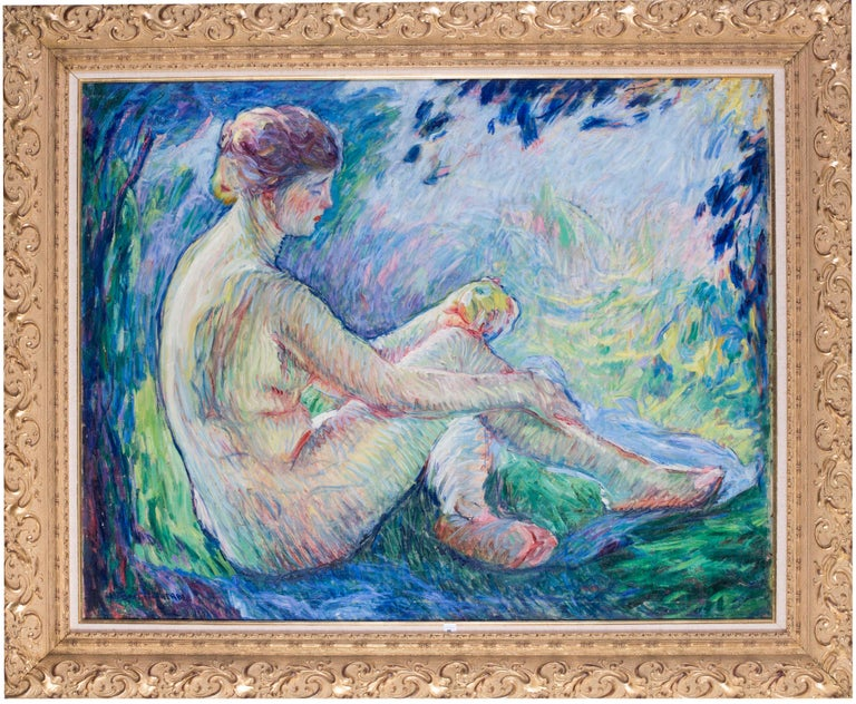 William Malherbe (French, 1884 - 1955) Eve (reclining) Oil on canvas 31.3/8 x 40 in. (79.7 x 101.7 cm.) Signed 'WILLIAM MALHERBE' (lower left)  William Malherbe was a French Impressionist painter born in 1884. His success came in the 1930's