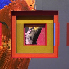 William Manning, Manana West #27, collage and acrylic on wood, 2006