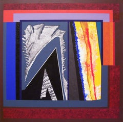 William Manning, Sea Shift #51, collage and acrylic on masonite, 2006