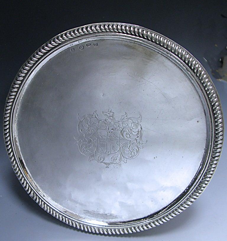 English William & Mary Antique Silver Tazza  For Sale