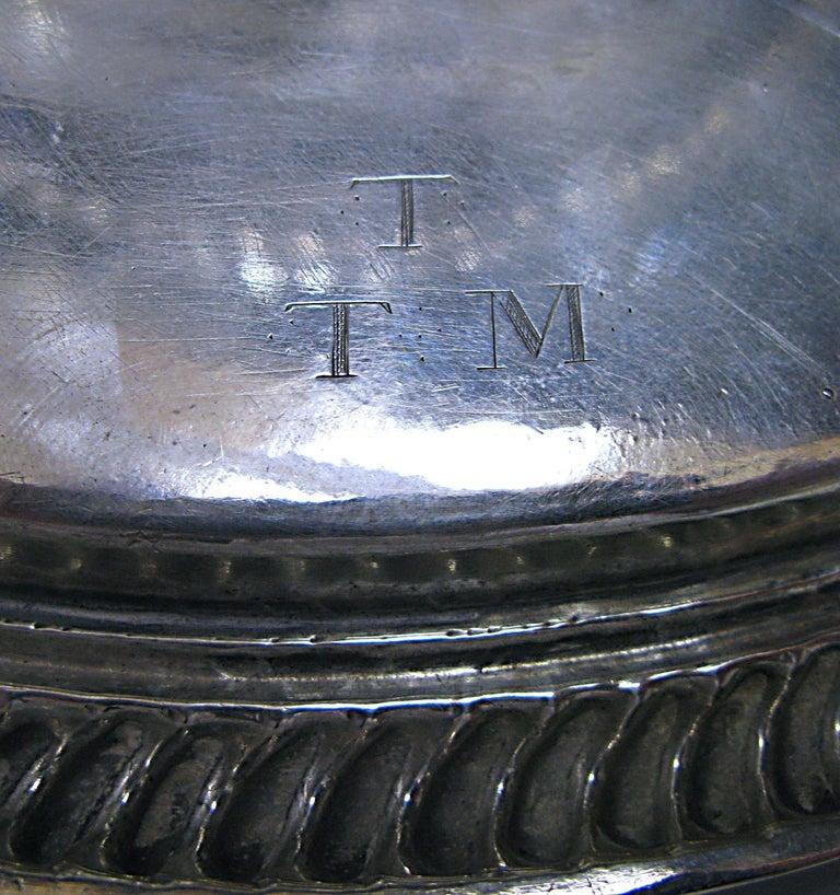 1690s William & Mary Antique Silver Tazza  For Sale