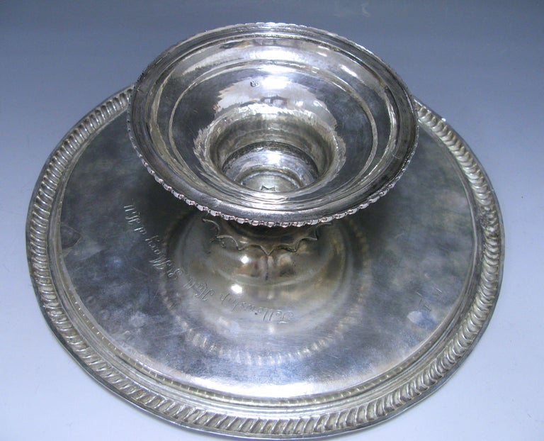 William & Mary Antique Silver Tazza  For Sale 2