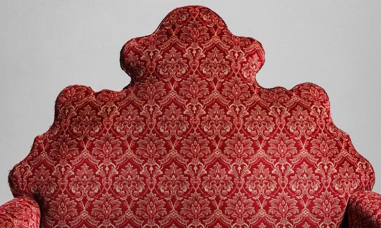 Velvet William & Mary Style Sofas, England, circa 1890 For Sale