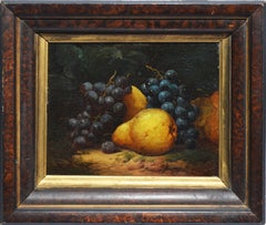 Antique American Fruit Still Life Oil Painting by William Mason Brown