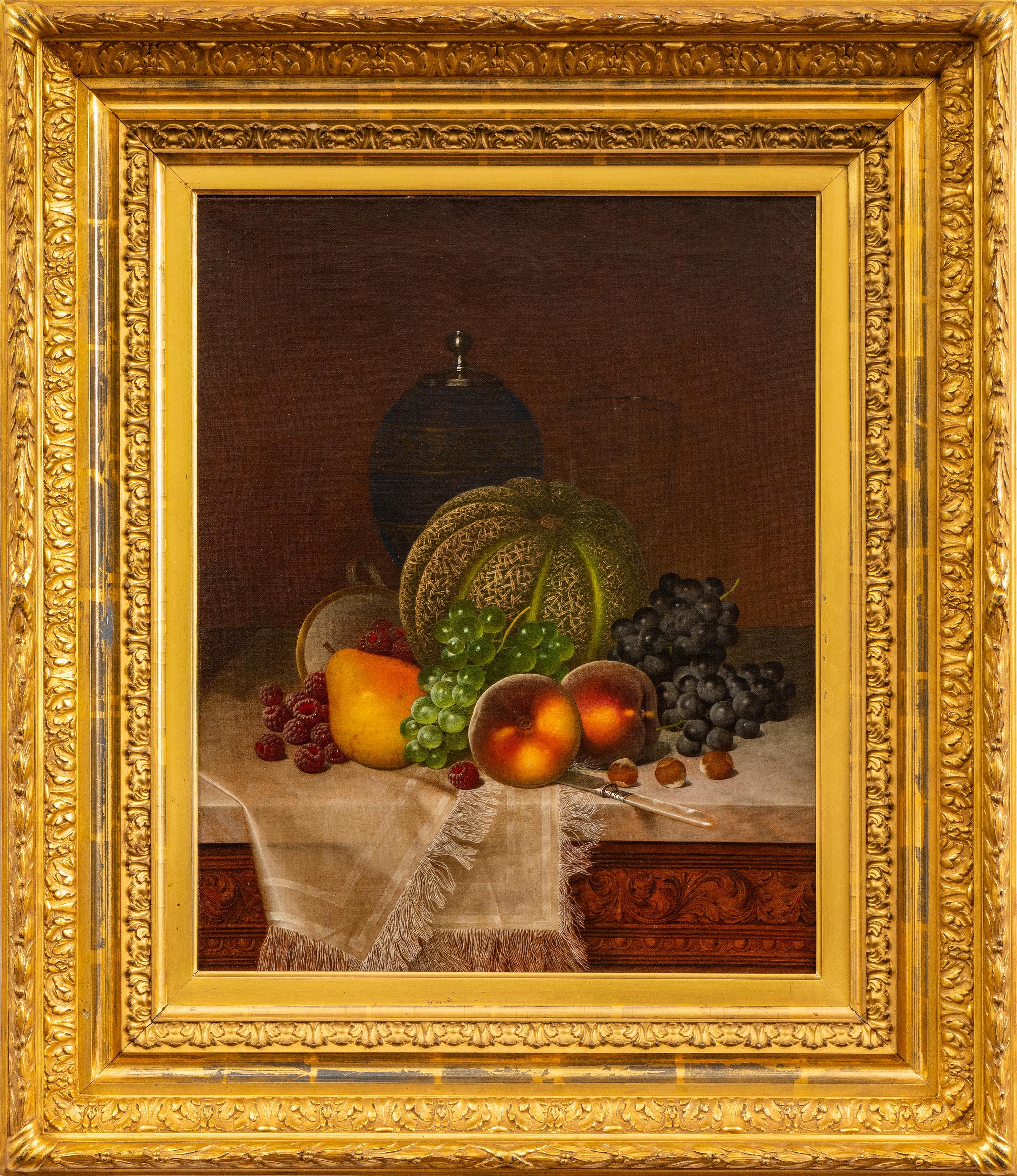 Still Life with Fruits, Samovar and Teacup