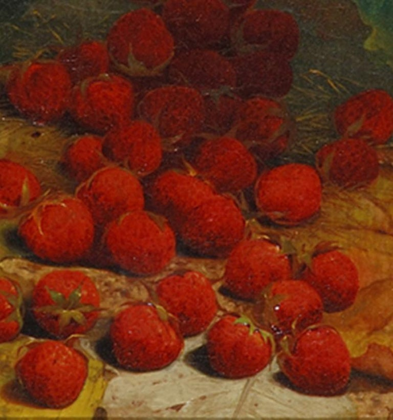 Strawberries Strewn on a Forest Floor For Sale 1