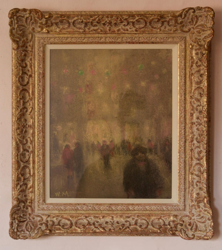 William Mason City Lights Impressionist Piece