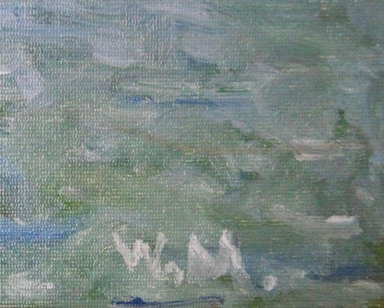 Daybreak on the Sea - 20th Century Impressionist Sailing Boats Seascape by Mason 4