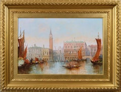 19th Century townscape oil painting of Venice
