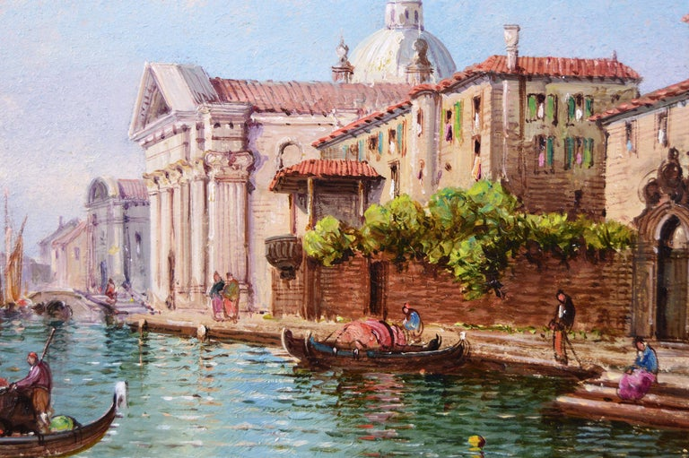 Pair of 19th Century townscape oil paintings of Venice 1