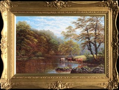 'Rydal Lake, West Moorland' and 'On The Wharfe, Bolton Woods, Yorkshire' (Pair)