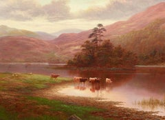 Scottish Landcape Painting 'Rydal Lakes, Westmoreland' by William Mellor