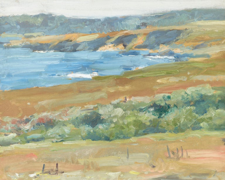 Coastal Landscape, California (Carmel-by-the-Sea) - American Impressionist Painting by William Merritt Chase